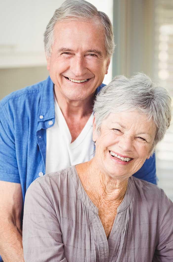 happy elderly homeowners