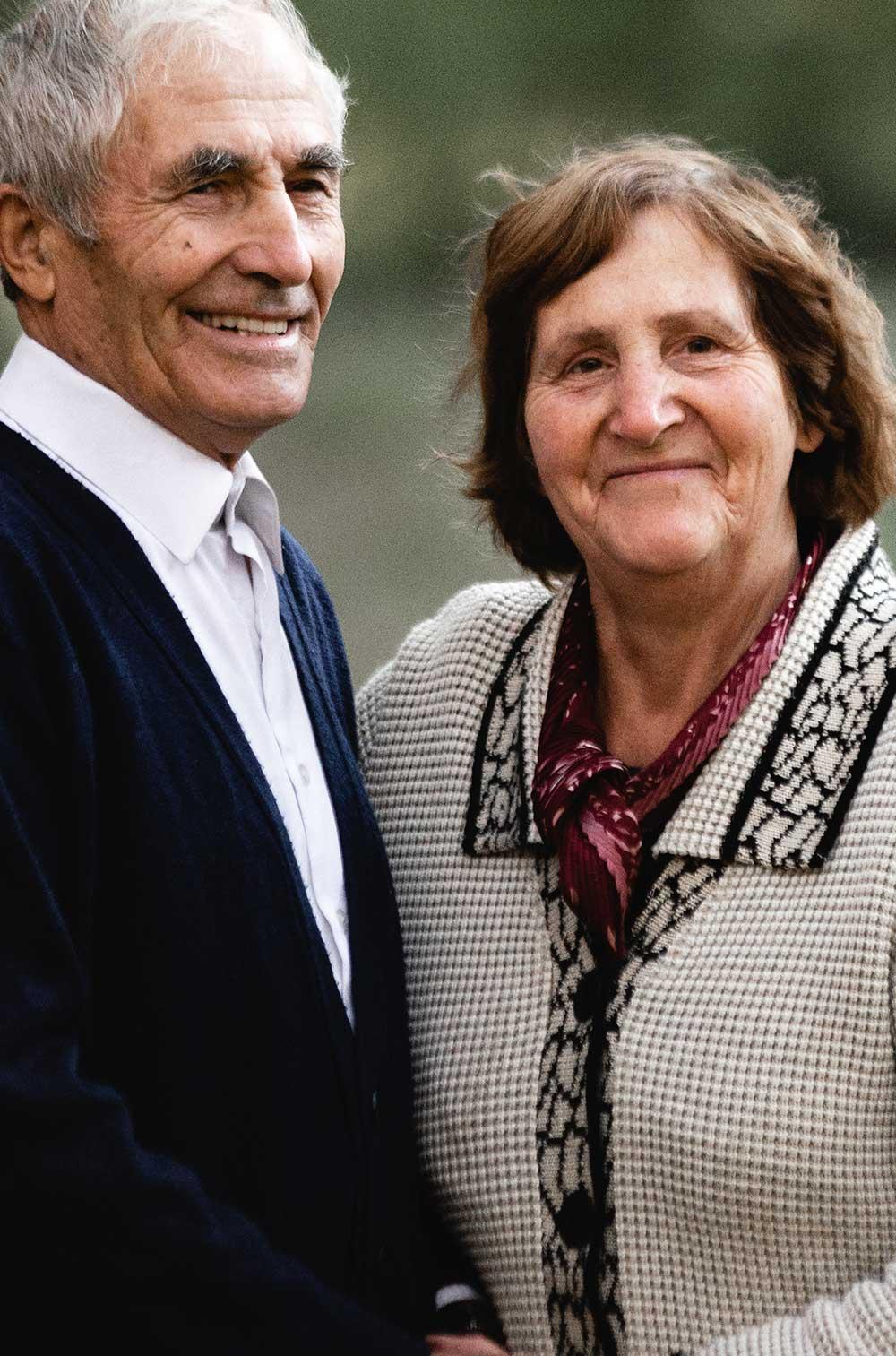 happy senior homeowners