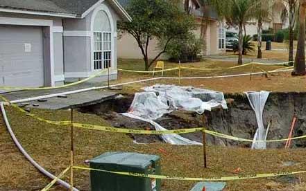 Sinkhole damage claim